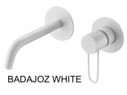 Recessed wall-mounted faucet, single lever, length 218 mm - BADAJOZ WHITE
