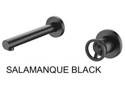 Recessed wall-mounted faucet, single lever, length 237 mm - SALAMANQUE BLACK