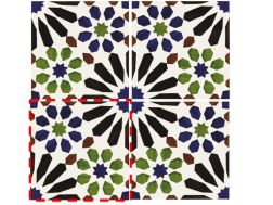 Casablanca 14x14 cm- wall tile, in the Oriental style.