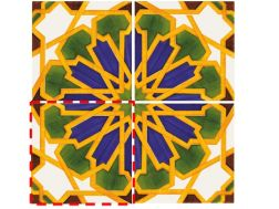 Marrakesh 14x14 cm- wall tile, in the Oriental style.