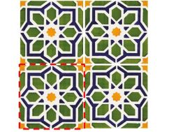 Rabat 14x14 cm- wall tile, in the Oriental style.