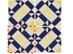 CHECKERED BLLUE 14x14 cm- wall tile, in the Oriental style.