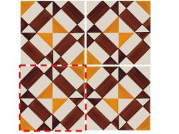 CHECKERED BROWN 14x14 cm- wall tile, in the Oriental style.