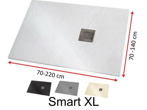Large shower tray in mineral resin - SMART XL