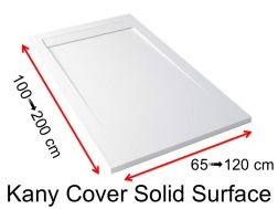 Corian shower tray, Solid Surface mineral resin, extra flat - KANY COVER
