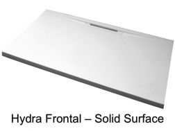 Shower tray, front channel, in Solid Surface - HYDRA FRONTAL