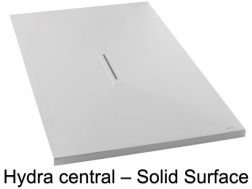 Shower tray, in Solid Surface mineral resin, central drain - HYDRA CENTRAL