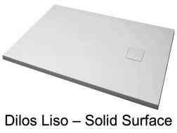 Shower tray, in Solid Surface mineral resin, extra flat - DILOS