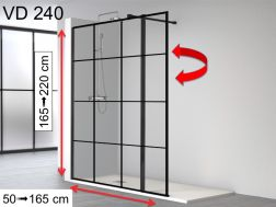 Fixed shower screen, with hinged flap, 80 __plus__ 35 x 195 cm - AC 240 ATELIER