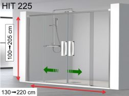 Shower door, two central sliding doors - HIT 225