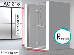 Shower door, folding - AC 218