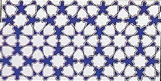 FATIMA AZUL - earthenware tiles, the Oriental style, Moorish or zelllij