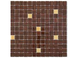 7562 - Emaux Cosmos brown, Enamels Glass Mosaic