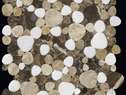 Nimes, Pebbles, Mosaic brown/beige/white. Boxer