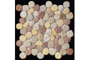 Taro travertine mix, Sawed pebble mosaic, tiles 30x30 cm. Boxer