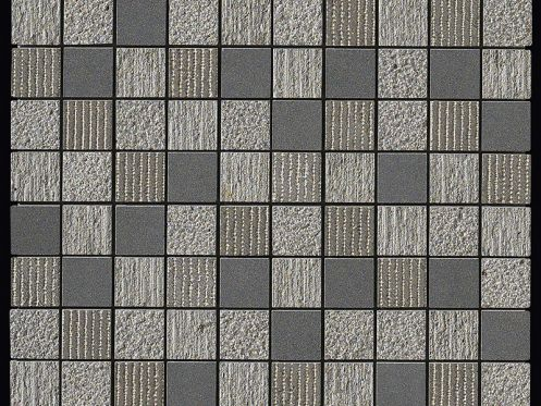 Carbon Multieffect mosaic sheet 32x32 cm, Boxer.