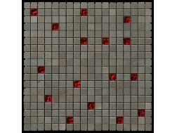 Carbon Glass red Scarlett mosaic sheet 30,5x30,5 cm, Boxer.