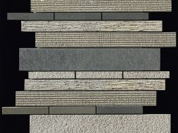 Carbon multieffect Strip  mosaic sheet 30,5x30,5 cm, Boxer.