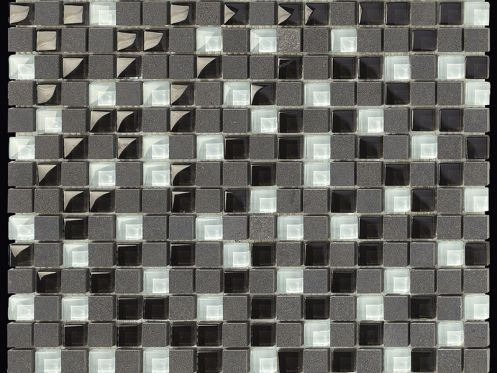Carbon Glass Mix mosaic sheet 30,5x30,5 cm, Boxer.