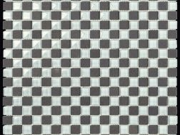 Carbon Glass White mosaic sheet 30,5x30,5 cm, Boxer.