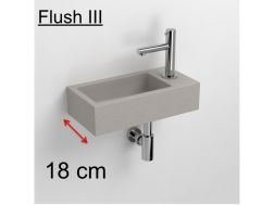 wash-hand basin grey concrete 18, Flush 3, fitting right,  Clou