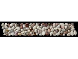LIVENZA GALET MULTICOLORE - Frieze or Listellos mosaic tiles stone