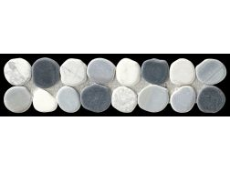 TARO GALET NERO MIX - Frieze or Listello mosaic tiles stone