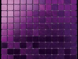 Alubond/25 Viola, Tile Mosaic Stainless. Boxer