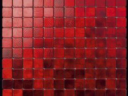 Alubond/25 Rosso, Tile Mosaic Stainless. Boxer