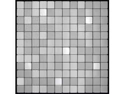 Alubond/25 Mix, Tile Mosaic Stainless. Boxer