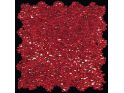 Mini Glass Rosso, Mosaic glass tile 30x30 cm. Boxer