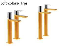 Single lever washbasin mixer with base extension, loft Colors Tres,  yellow finish