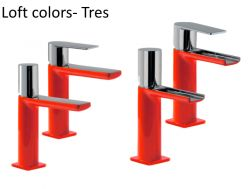 Single lever washbasin mixer, loft Colors Tres, red finish